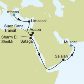 Athens to Muscat Itinerary