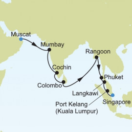 Muscat to Singapore Itinerary