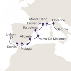 Lisbon to Rome  Itinerary