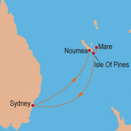 Pacific Islands from Sydney Itinerary