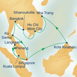 Malaysia and Thailand and Vietnam Itinerary