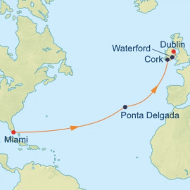 Azores and Ireland Transatlantic Itinerary