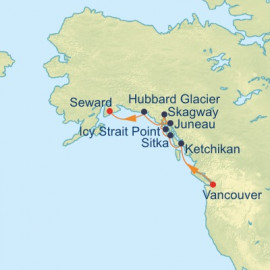 Alaska Northern Glacier Itinerary