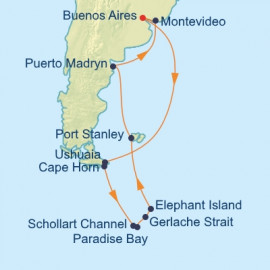 Antarctica and South America Itinerary