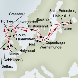 Jewels of the Baltic Fjords and Highlands Itinerary