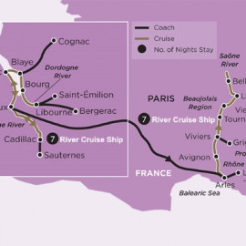 Bordeaux to Lyon Luxury River  Itinerary