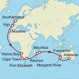 Southampton to Adelaide World Sector Itinerary