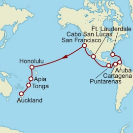 Fort Lauderdale To Auckland World Sector Itinerary
