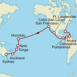 Fort Lauderdale To Sydney World Sector Itinerary
