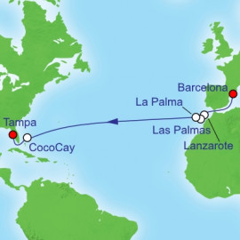 Canary Islands And Cococay Itinerary