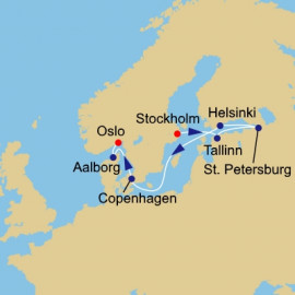 Baltic Capitals and Russia Itinerary