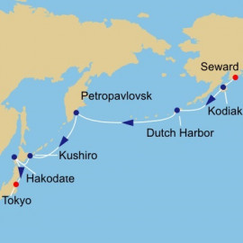 Alaska To Japan Voyage Itinerary