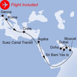 Med Days to Arabian Nights Fly Itinerary