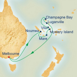 New Caledonia and Vanuatu Itinerary