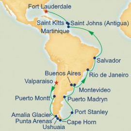 Cape Horn and Brazil Grand Adventure Itinerary