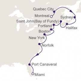 Montreal to Miami Itinerary