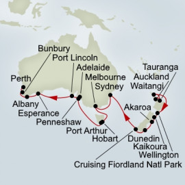 New Zealand and Southern Ocean Holiday  Itinerary