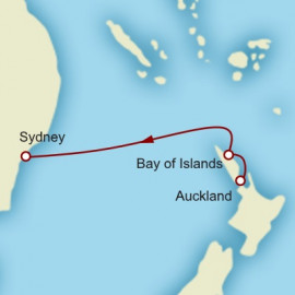 Auckland to Sydney World Sector Itinerary