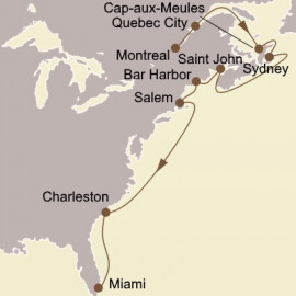 Canadian Maritimes and New England Itinerary