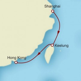 Shanghai to Hong Kong World Sector Itinerary