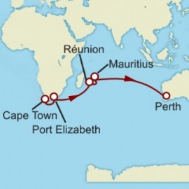 Cape Town to Fremantle Itinerary