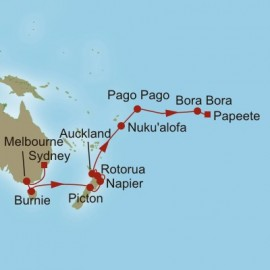 Tasman and Pacific Gems Itinerary