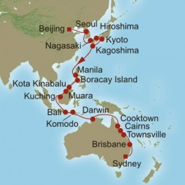 Far East and Coral Seas  Itinerary