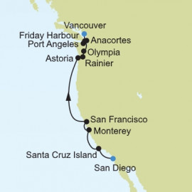 American West Coast Expedition Itinerary