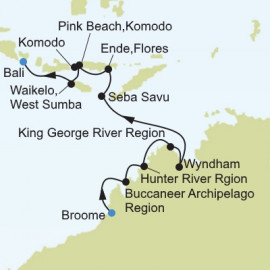 Broome to Benoa  Itinerary