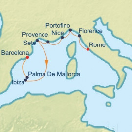 Riviera and Mediterranean Itinerary