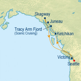 Alaska Tracy Arm Fjord Itinerary