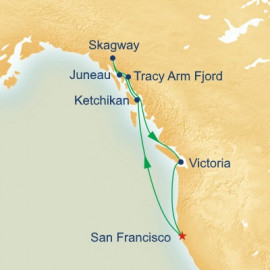 Inside Passage With Tracy Arm Fjord Itinerary