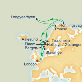 Midnight Sun Spitsbergen and Summer Solstic Itinerary