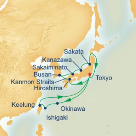Southern Islands and Sea of Japan Itinerary