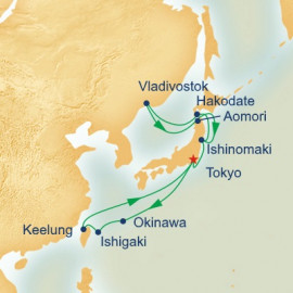 Southern Islands and Northern Japan Itinerary