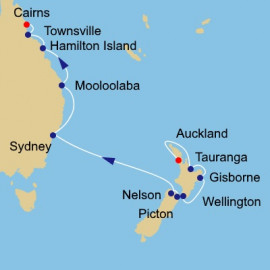 New Zealand and Australia Voyage Itinerary