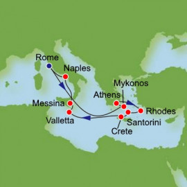 Eastern Mediterranean and Greek Isles Itinerary