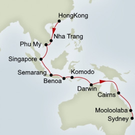 Hong Kong to Sydney Grand Asia and Pacific Voyages Itinerary