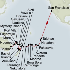 Pacific Odyssey and Polynesian Crossing Itinerary
