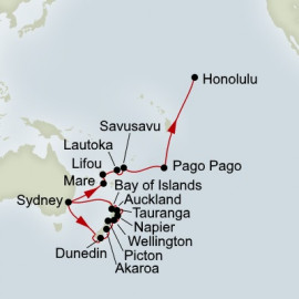 New Zealand and South Pacific Crossing Collector Itinerary