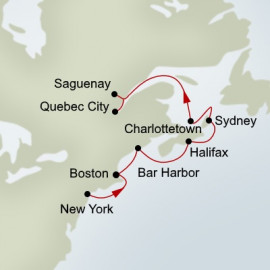 Colors of Canada and New England Itinerary