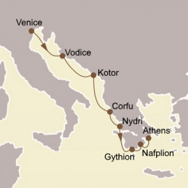 Adriatic and Greek Glories  Itinerary