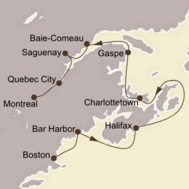New England and Canadian Maritimes Itinerary