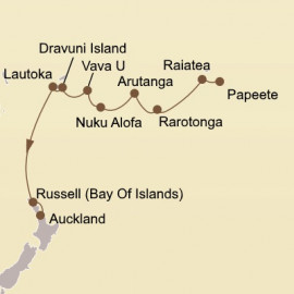 Isles of the Southern Cross Itinerary