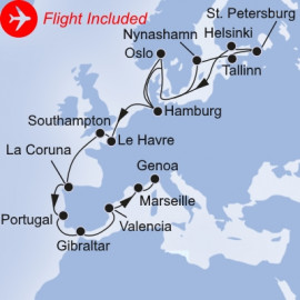 From the Baltics to the Mediterranean Fly Itinerary