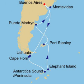 Antarctica Pursuit Itinerary