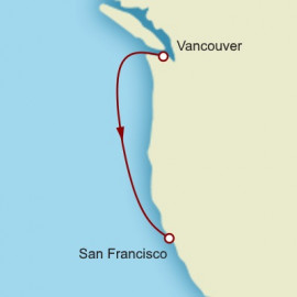 Vancouver to Los Angeles Cunard Cruise