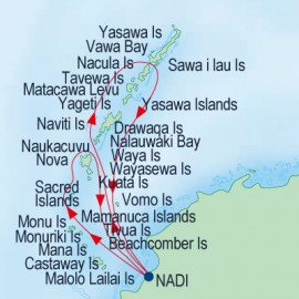 Mamanuca and Yasawa Islands Cruise Itinerary