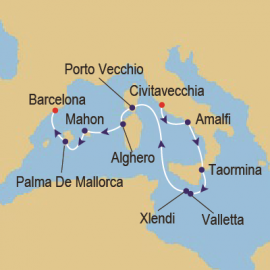 Islands Of The Med Itinerary