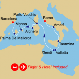 Fly Stay Islands Of The Med Azamara Club Cruises Cruise